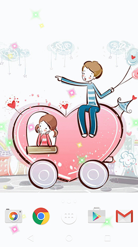 Download Cute lovers free Cartoon livewallpaper for Android phone and tablet.