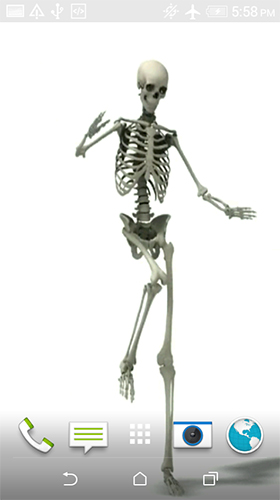 Download Dancing skeleton free Fantasy livewallpaper for Android phone and tablet.