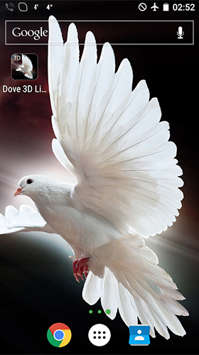 Download Dove 3D free 3D livewallpaper for Android phone and tablet.