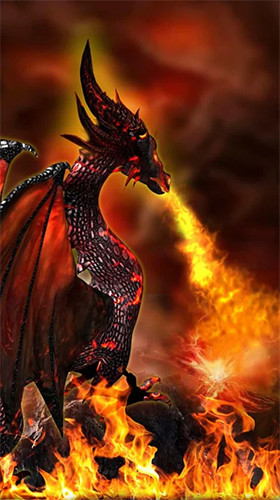 Download livewallpaper Fire dragon 3D for Android.
