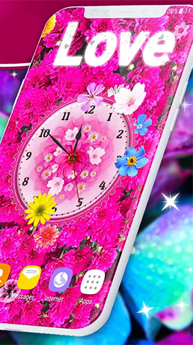Download Flowers analog clock free With clock livewallpaper for Android phone and tablet.