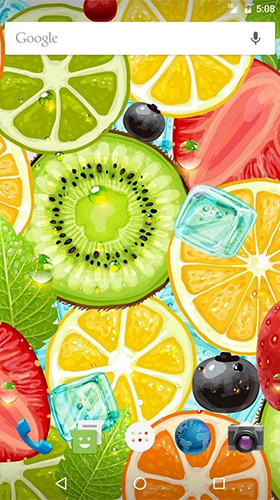 Download livewallpaper Fruits by Wasabi for Android.