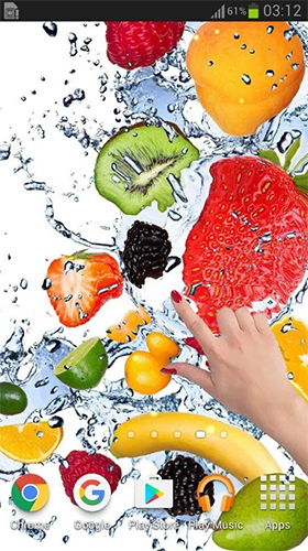 Download Fruits in the water free Food livewallpaper for Android phone and tablet.
