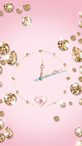 Download Gold and diamond clock free With clock livewallpaper for Android phone and tablet.
