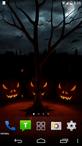 Download Halloween evening 3D free Fantasy livewallpaper for Android phone and tablet.