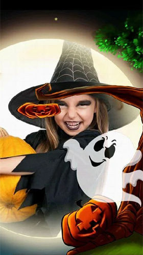 Download Halloween: Kids photo free Cartoon livewallpaper for Android phone and tablet.