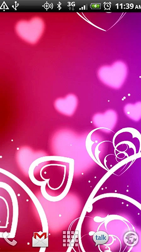 Download Hearts by Kittehface Software free Abstract livewallpaper for Android phone and tablet.