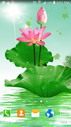 Download Lotus by villeHugh free Plants livewallpaper for Android phone and tablet.