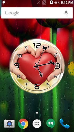 Download Love: Clock by Lo Siento free With clock livewallpaper for Android phone and tablet.