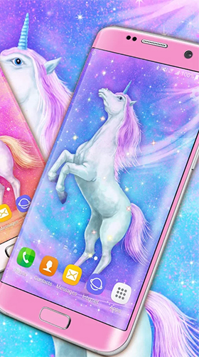 Download Majestic unicorn free With clock livewallpaper for Android phone and tablet.