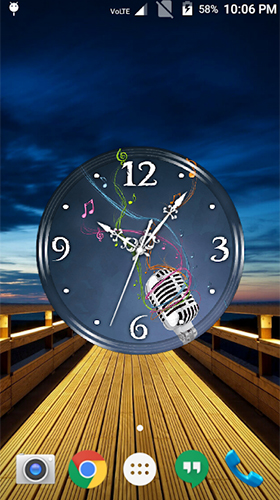 Download Music clock free With clock livewallpaper for Android phone and tablet.