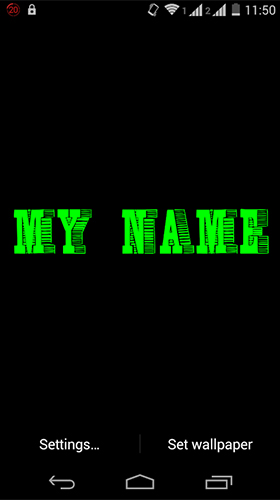 Download My name 3D free Interactive livewallpaper for Android phone and tablet.