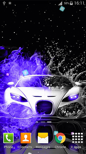 Download Neon cars free Auto livewallpaper for Android phone and tablet.