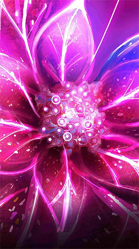 Download Neon flowers by Art LWP free Fantasy livewallpaper for Android phone and tablet.