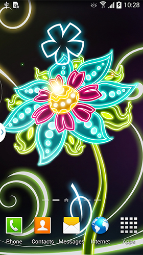 Download Neon flowers by Live Wallpapers 3D free Fantasy livewallpaper for Android phone and tablet.