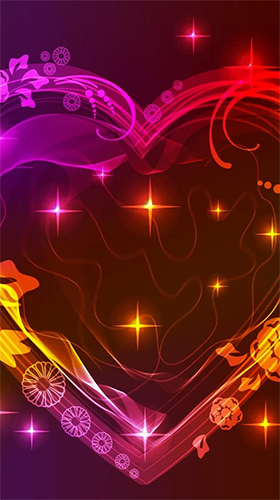 Download Neon hearts by Creative Factory Wallpapers free Holidays livewallpaper for Android phone and tablet.