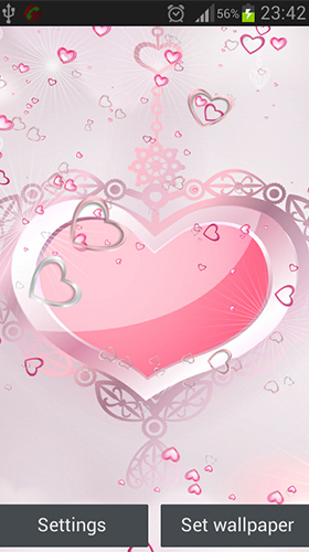 Download Pink hearts free Holidays livewallpaper for Android phone and tablet.