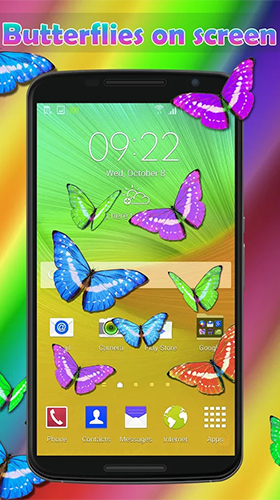 Download Real butterflies free With clock livewallpaper for Android phone and tablet.