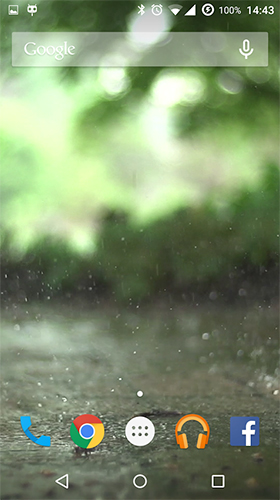 Download livewallpaper Real rain for Android.