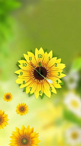 Download Sunflower clock free With clock livewallpaper for Android phone and tablet.
