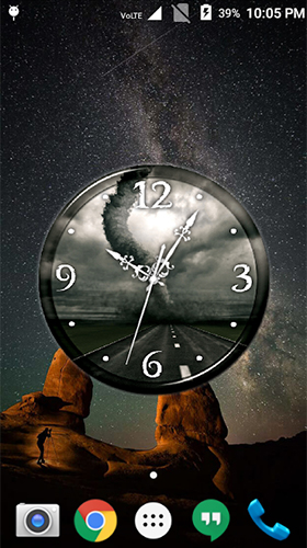 Download Tornado: Clock free With clock livewallpaper for Android phone and tablet.