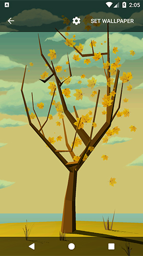Download livewallpaper Tree with falling leaves for Android.