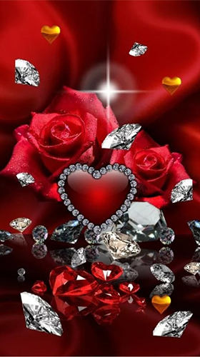 Download Valentines Day diamonds free Holidays livewallpaper for Android phone and tablet.