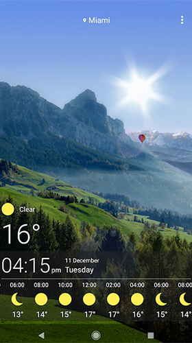 Download Weather by SkySky free Landscape livewallpaper for Android phone and tablet.