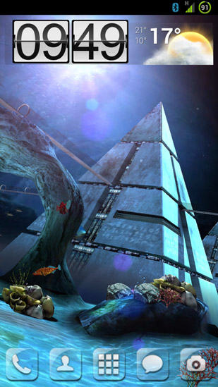 Download livewallpaper Atlantis 3D pro for Android.