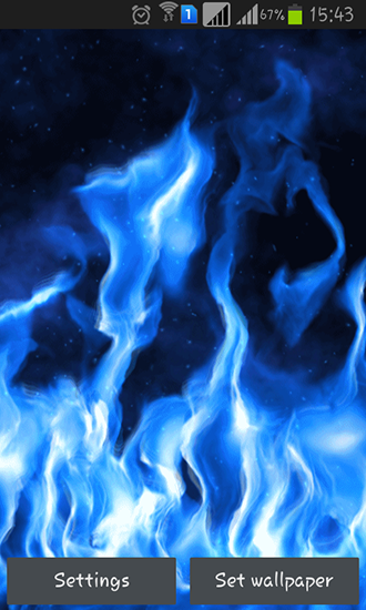Download Blue flame free livewallpaper for Android 4.2.2 phone and tablet.