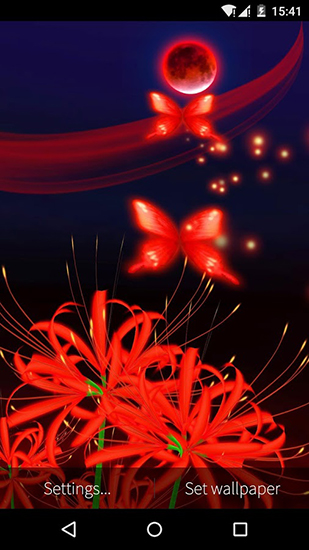 Download Butterfly and flower 3D free livewallpaper for Android 4.2.2 phone and tablet.