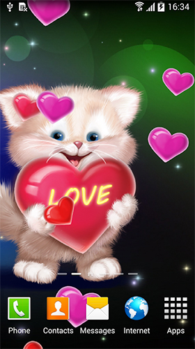 Cute cat by Live Wallpapers 3D apk - free download.