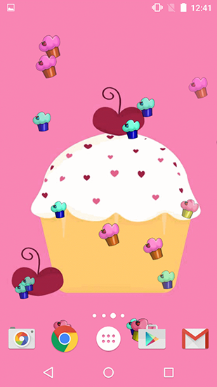 Download Cute cupcakes free Food livewallpaper for Android phone and tablet.