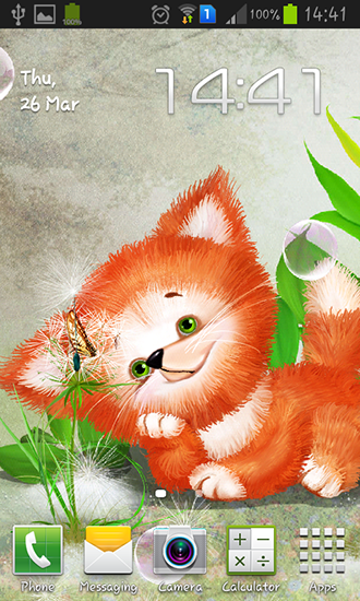 Download Cute foxy free livewallpaper for Android 4.0.1 phone and tablet.