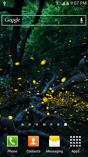 Download Fireflies by Top live wallpapers hq free livewallpaper for Android 4.4.2 phone and tablet.