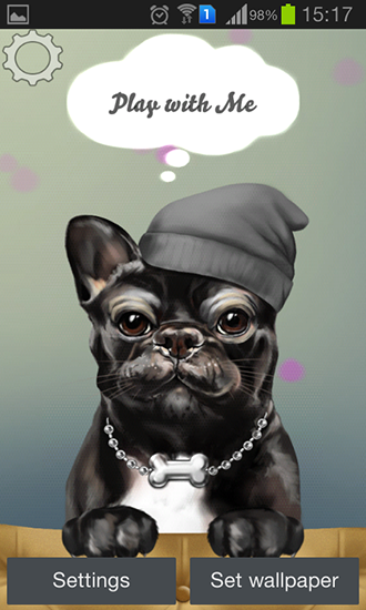 Download French bulldog free livewallpaper for Android 4.4.2 phone and tablet.