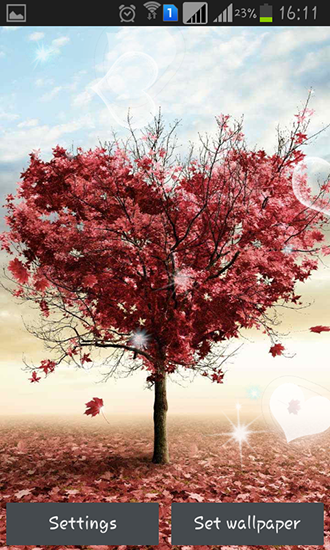 Download Love tree by Pro live wallpapers free livewallpaper for Android 4.2.2 phone and tablet.