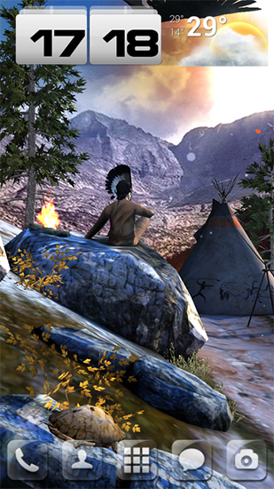 Download livewallpaper Native american 3D pro full for Android.