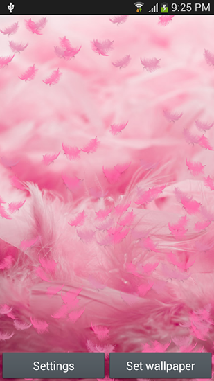 Download Pink feather free livewallpaper for Android 4.4.2 phone and tablet.