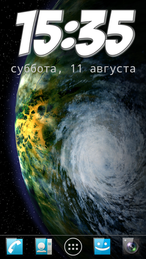 Download livewallpaper Planets pack for Android.