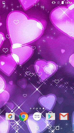 Download Purple hearts free livewallpaper for Android 6.0 phone and tablet.