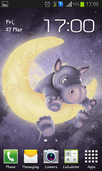 Download Sleepy hippo free livewallpaper for Android 4.0.1 phone and tablet.