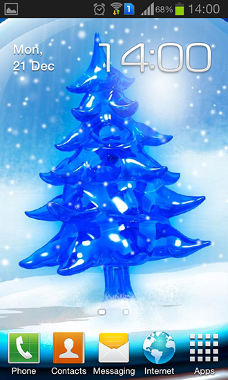 Download Snowy Christmas tree HD free livewallpaper for Android 4.4.2 phone and tablet.