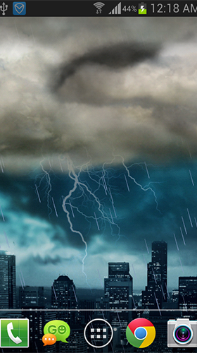 Thunderstorm by live wallpaper HongKong apk - free download.