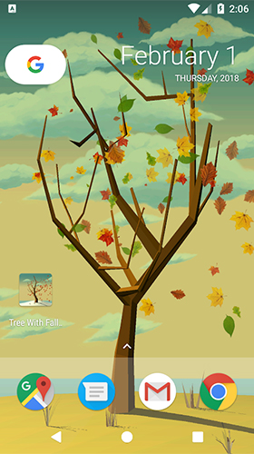 Tree with falling leaves apk - free download.