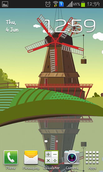 Download Windmill and pond free livewallpaper for Android 6.0 phone and tablet.