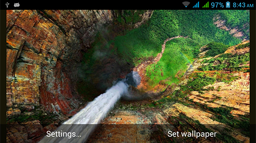 Screenshots of the live wallpaper Nature HD by Live Wallpapers Ltd. for Android phone or tablet.