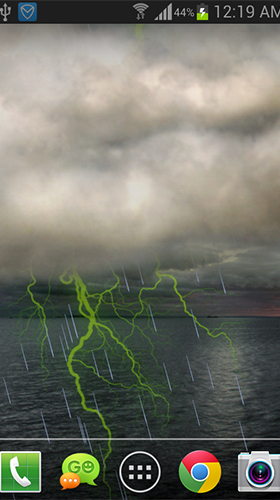 Screenshots of the live wallpaper Thunderstorm by live wallpaper HongKong for Android phone or tablet.