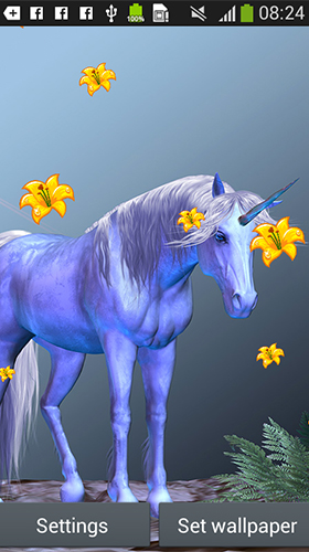 Screenshots of the live wallpaper Unicorn by Latest Live Wallpapers for Android phone or tablet.