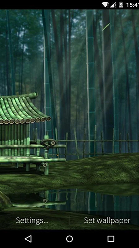 Full version of Android apk livewallpaper Bamboo house 3D for tablet and phone.
